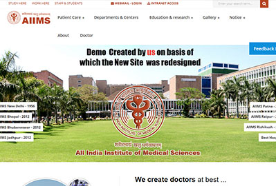 AIIMS Demo Mockup Approved for New Site